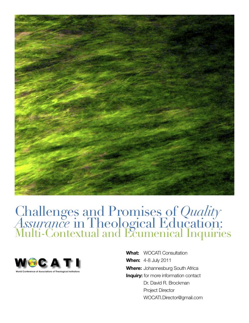 2011 WOCATI - Johannesburg Consultation